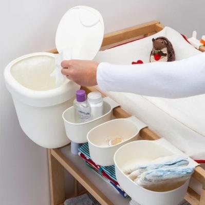 Zestaw koszy Ikea Onsklig 4 sztuki białe PRZEWIJAK
