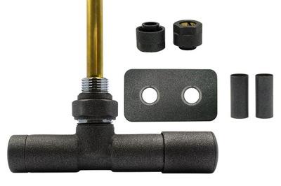 Regulačný ventil Unico 50mm antracit + spojkyCu + podstavce