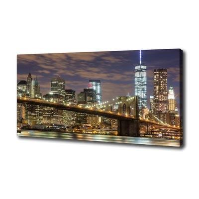 Foto obraz na płótnie Most Brookliński 100x50 cm