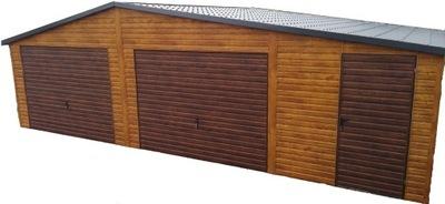 Garaż Blaszany Garaże Blaszane Drewnopodobny 8X6