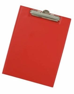 Deska zamykana A5 z klipem czerwona