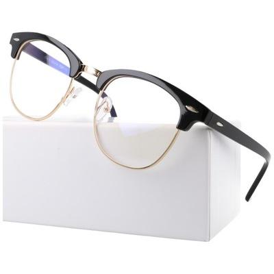 Okulary zerówki do komputera z filtrem Blue Light