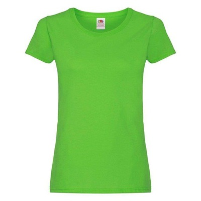 DAMSKA koszulka T-SHIRT FRUIT ORIGINAL limonka S