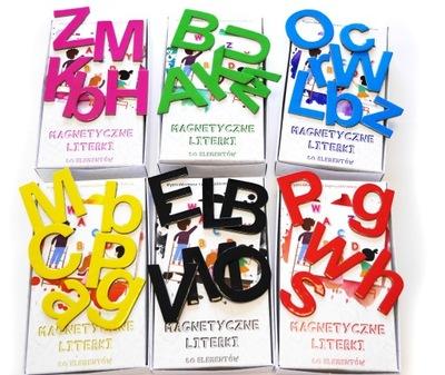 Magnesy na lodówkę magnes puzzle alfabet 80 el.