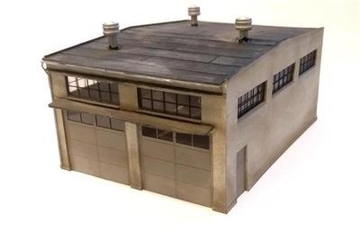 H0 - гараж Двойной мастерская по ремонту 1 :87