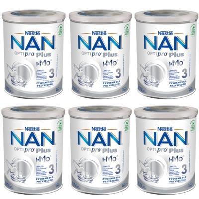 NAN OPTIPRO Plus 3 HM-0 Mleko mod.po 1.roku 6x800g