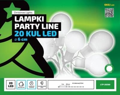 Vlkovcový osvetlenie záhrady, 20 LED gule lampa 10M