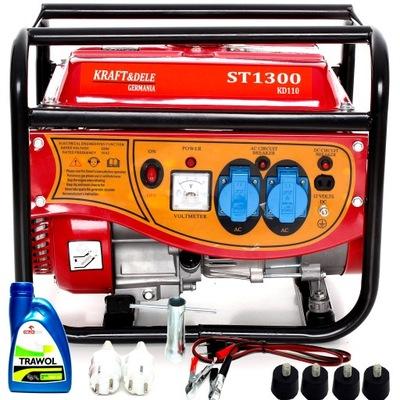Приводимый в действие генераторная instagram ТОКА KD110 2200/1500W +масло