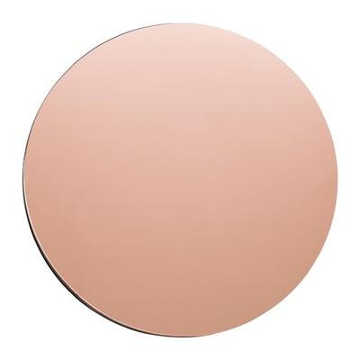 Okrúhle bezrámové medené nástenné zrkadlo 70 cm