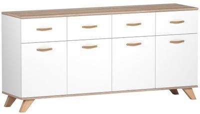 КОМОД NDs4d4s162cm сонома /Белый -коллекция мебели-4k