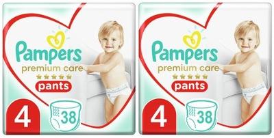 Pampers Premium Pants 4 Maxi 2 x 38 sztuk