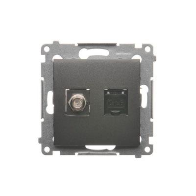 Simon 54 Gniazdo antenowe i komputerowe typu F i R