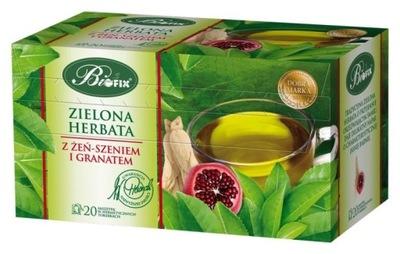 чай зеленый BIFIX С женьшенем И ГРАНАТОЙ 20Т