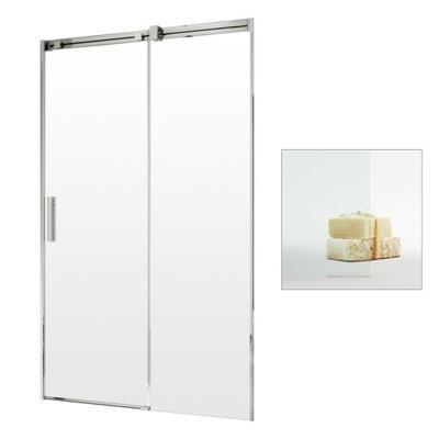 Drzwi prysznicowe wnękowe przesuwne 140 P czyste