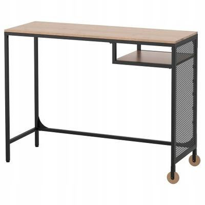 FJALLBO Stolik na laptop, czarny100x36 cm