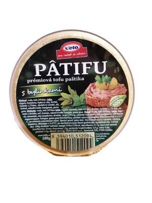 Patifu Pasztet wegański vege z tofu z ziołami 100g