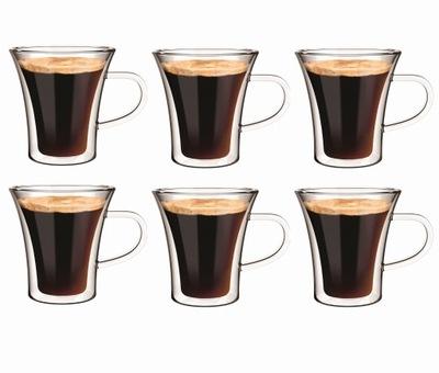 6 Filiżanki Kubki Termiczne Kawy Espresso Ristreto
