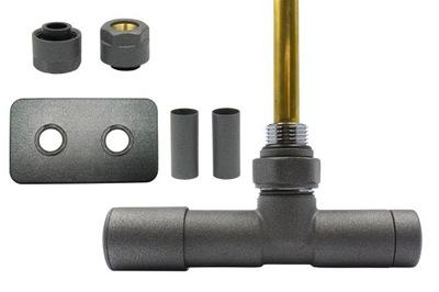 Regulačný ventil Unico 50 mm, grafitový str + spojky Cu + nalievané