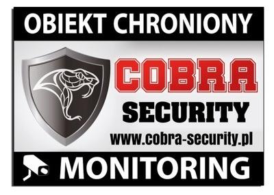 TABLICZKA obiekt chroniony SECURITY monitoring
