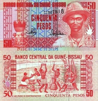 # ГВИНЕЯ-БИСАУ - 50 ФРАНКОВ - 1990 - P-10 - UNC