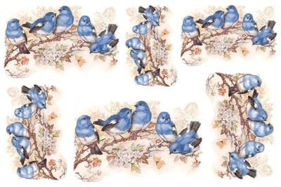 бумага классический A4 декупаж Птицы птички