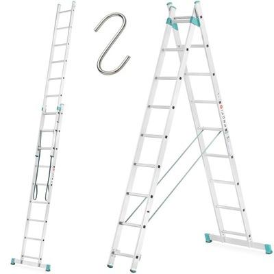 Лестница алюминиевая rozstawna 2x9 Высшее на лестницу