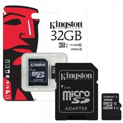 KARTA PAMIĘCI Kingston 32GB MICRO SD C10+ ADAPTER