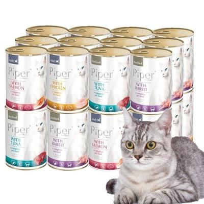 NOTECI VALLEY PIPER CAT SET mix chutí 24x400g