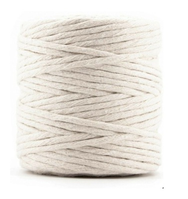 Sznurek bawełniany do makramy naturalny 1000m 3mm