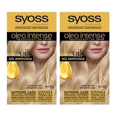 Syoss Oleo Farba do Włosów Jasny Blond 9-10 x 2