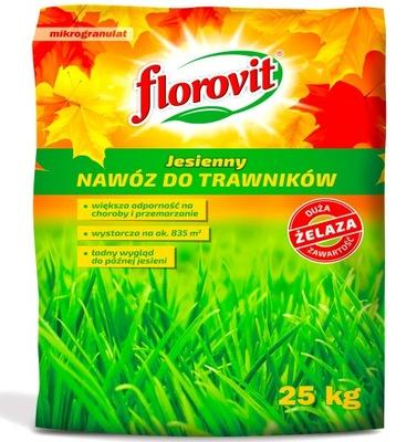FLOROVIT JESIENNY NAWÓZ DO TRAWY TRAWNIKA 25kg +Fe