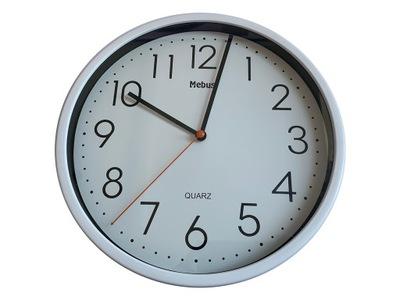 Markowy Zegar ścienny Mebus Klasyczny Biały 25cm