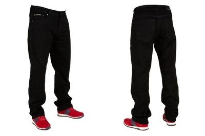 Spodnie męskie jeans W:33 88 cm L:30 czarne