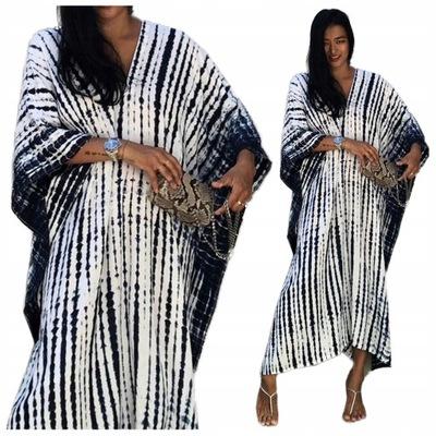PAREO długa narzutka LETNIA tunika BOHO sukienka