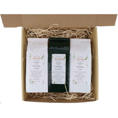 Zestaw upominkowy nr 35 -Herbaty 3x100g prezentowy