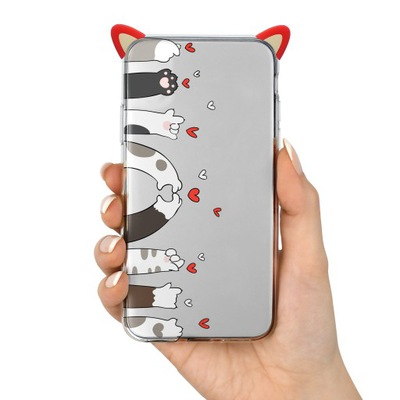 Etui KOT MEOW uszy do Xiaomi Redmi Note 7