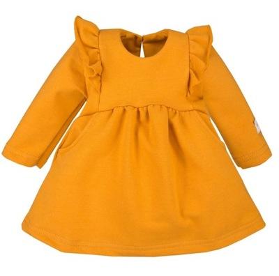 Sukienka z falbankami SILMPLY śliczna MIODOWA