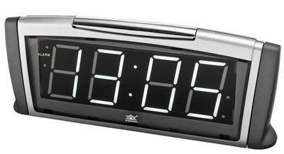 Budzik Zegar Sieciowy XONIX Elektroniczny Srebrny