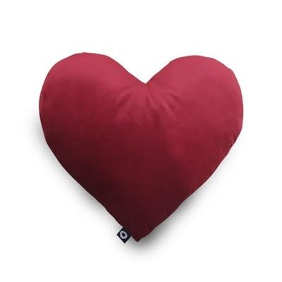 Poduszka VELVET 45x45   czerwone serce