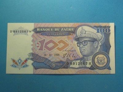 Заир Банкнота 100 Zaires 1988 UNC P-33