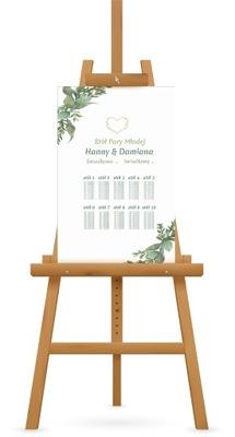 Plan stołów gości na wesele 60x90 cm