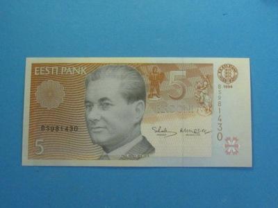 Estonia Banknot 5 Krooni 1994 UNC P-76a