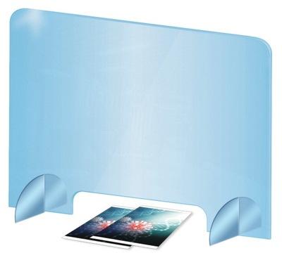 Osłona plexi szyba ochronna biurko 100x60 + GRATIS