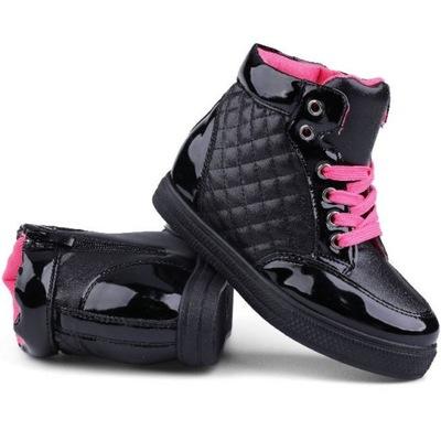 Sneakersy czarno-różowe Jilani 27 Czarny