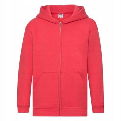 Bluza Dziecięca Kaptur Zamek Premium 140 Czerwony