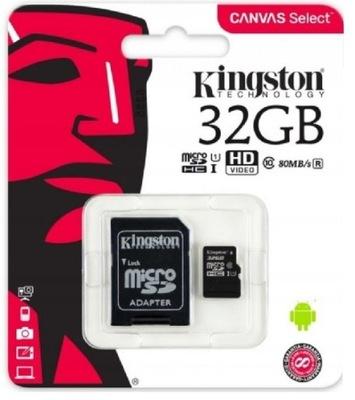 KINGSTON KARTA MICROSD 32GB MICRO CL10 ADAPTER SD
