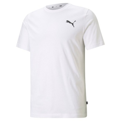 PUMA Koszulka Męska SMALL LOGO BIAŁA T-Shirt L