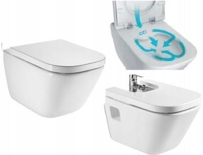Рока Gap без оправы крепления миска туалет + БИДЕ A357475 + ДОСКИ