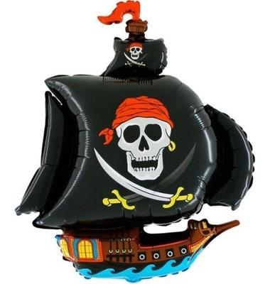 Balon foliowy Statek piracki 62cm pirat