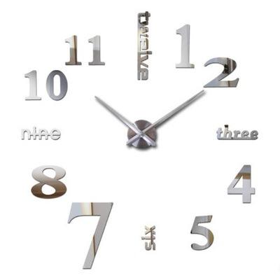 Большой часы instagram холсты 3d серебро